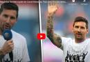 Regardez l'entrée royale de Lionel Messi au Parc des Princes rendu hommage par les fans du PSG